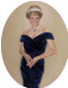 Princess Diana in Dark Blue Dress