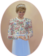 Princess Diana in Flowered Top