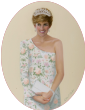 Princess Diana in Flowered Dress