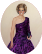 Princess Diana in Purple Dress